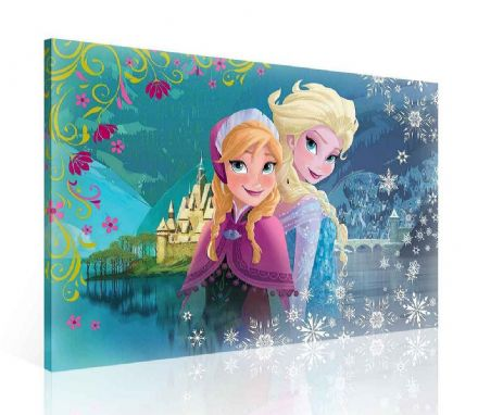 Elsa and Anna Canvas 40x60cm